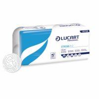 Hartie igienica alba Lucart Strong, 3 straturi, 8 role/set