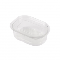Sosiera ovala dreptunghiulara transparenta in plastic
