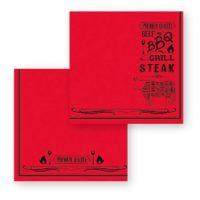 servetel de masa rosu fato steak house