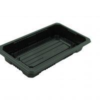Caserola dreptunghiulara neagra din plastic
