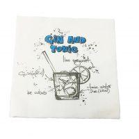 "Servetele de BAR ""Gin and Tonic"" albastre, 1 strat, 25 x 25 cm"