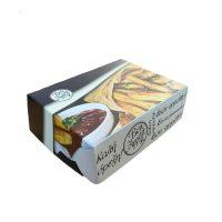 Cutii carton grill cu aluminiu pe interior pentru cartofi prajiti