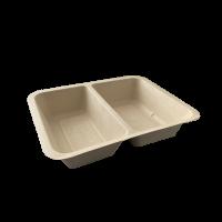caserola termo biodegradabila 2 compartimente